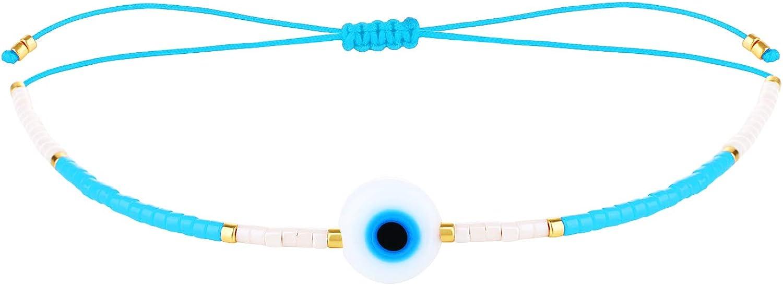 KELITCH Seed Beads Strand Bracelet Handmade Braided Adjustable Charm String Link Bracelets Fashion Jewelry for Women Girl