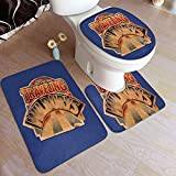 Almohadilla Antideslizante para baño The Traveling Wilburys Collection Absorbent Carpet BathMat Anti-Slip Pads 3 Piece Set Bathroom Carpet Set Soft Anti-Skid Pads Bath Mat + Contour Pads 50x80cm