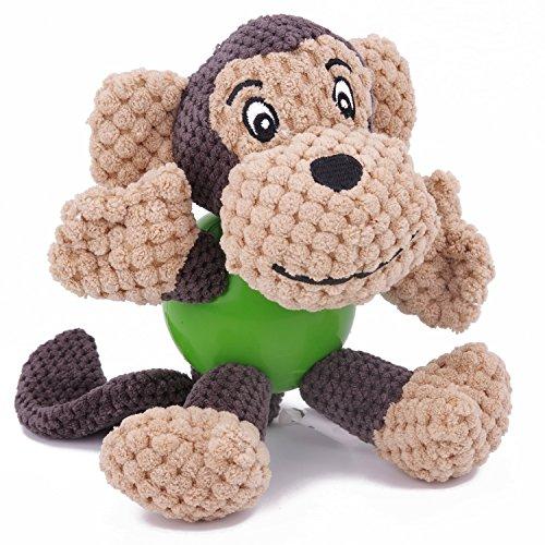 EEToys Juguete perro peluche y goma Juguete sonido para perro Juguete para masticar perro Colección juguetes de animales