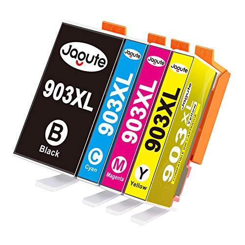 Jagute 903XL Cartucce Compatibili con HP 903 903XL per HP OfficeJet Pro 6950 6960 6970, con Nuovo chip ( 50ml Nero, Ciano, Magenta, Giallo)