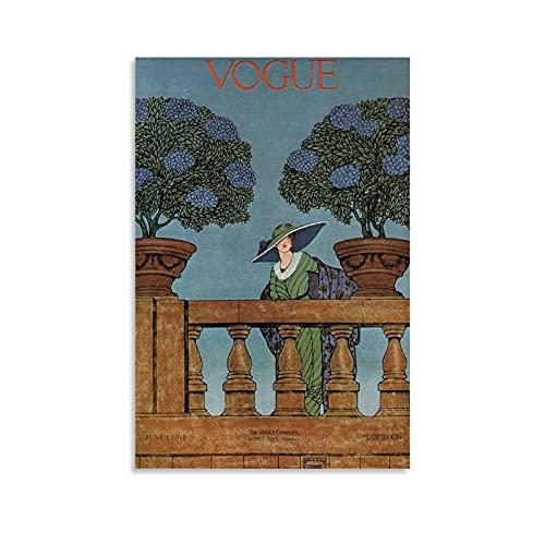 FANYAN Vintage Vogue Juni 1912 Poster, dekoratives Gemälde, Leinwand, Wandkunst, Wohnzimmer, Poster, Schlafzimmer, Gemälde, 60 x 90 cm