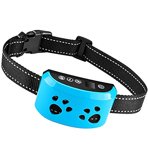 Dog Bark Collar [2020 Upgrade ]-7 Adjustable Sensitivity and Intensity Levels-triple Anti-Barking Modes Rechargeable/Rainproof/Reflective -No Barking Control Dog Collar for Small Medium Large dogs
