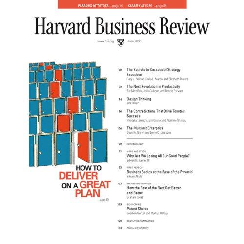 Harvard Business Review, June 2008 cover art