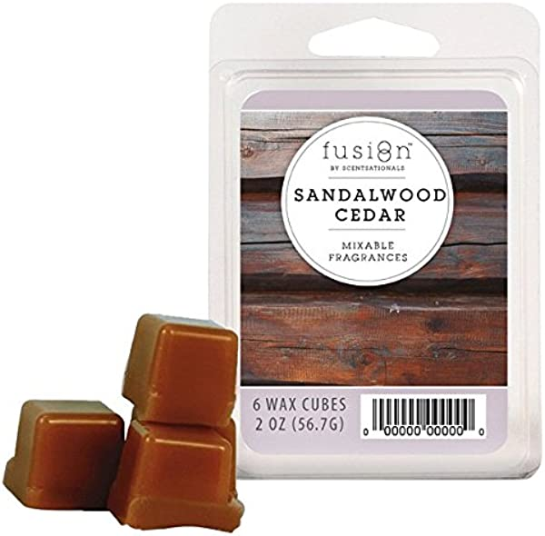 Scentsationals Fusion Wax Cube Sandalwood Cedar 2 Oz