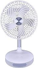 HUI JIN Ventilateur de bureau silencieux à oscillation automatique pour chambre à coucher, bureau, salon, économie d'énerg...