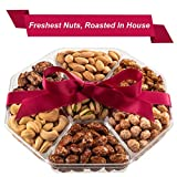 Mothers Day Nuts Gift Basket | Fresh Sweet & Salty Dry Roasted Gourmet Gift Basket | Fantastic Food Gift Basket for Mothers Day, Thanksgiving, Holiday, Sympathy, Family, Men & Women | Prime Delivery