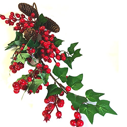 Artificial Christmas Ivy and Berry Teardrop Swag Garland - Christmas Decoration