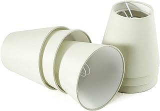 Fuloon Lot de 6 Pièces Abats-jour de Lampe en Tissu pour Lustre Applique Type de Bougeoir [Beige Clair]