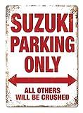 YASMINE HANCOCK Suzuki ParkingMetal Plaque Tin Sign Poster Metall Plaque Zinn Logo Poster Wand Kunst...