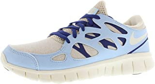 Nike Womens Free Run- 2 EXT Fabric Low Top Lace Up Running, Blue, Size 5.0