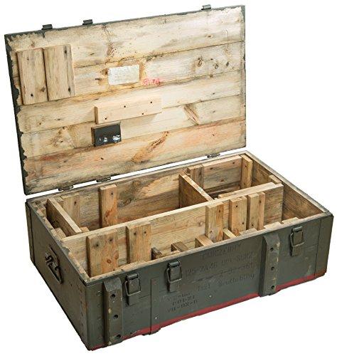 Schöne alte Munitionskiste Typ AD 81 Militärkiste Munitionsbox ca 82x51x29cm Holzkiste Holzbox Weinkiste Apfelkiste Shabby Vintage - 4