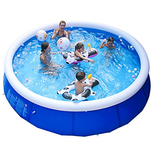 HOOLRO Family Inflatable Swimming Pools Above Ground for Backyard/Outside, Portable Blow Up Swimming Pools for Kids, Adults and Baby (Without Filter Pump) (12ft x 30in)