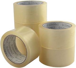 Q-Connect 937695 Ruban Adhésif Transparent Polypropylène Sans Solvant Recyclable Épaisseur 60 Microns 50 mm x 66 m Blanc