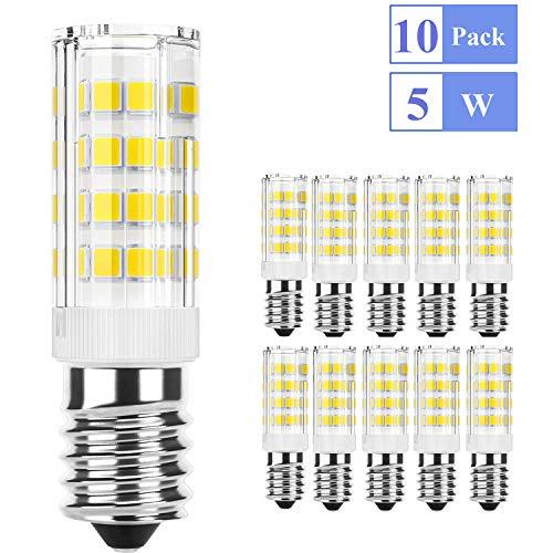 Bombillas LED E14 5W Ketom, E14 LED Blanco Frio 6000K 5W Equivalente a 40W Bombilla Halógena, Lámpara LED 400LM 360° ángulo de haz 85Ra, E14 Luz No Regulable Pack de 10