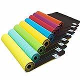 Rutschfeste Yogamatte »Suri« (Maße: 183x61x0,5 cm) inkl gratis Tragebänder für die Matte - die ideale Matte für Yoga & Pilates/in den Farben schwarz, blau, grün, orange, türkis und...