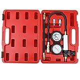 KKmoon Kit de comprobador de compresi髇 Detector de fugas del cilindro Medidor de presi髇 del cilindro de coche
