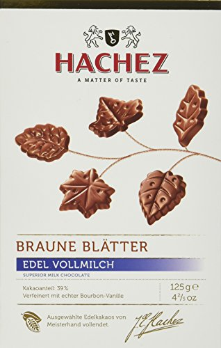 Hachez Braune Blätter Edel-Vollmilch, 2er Pack (2 x 125 g)