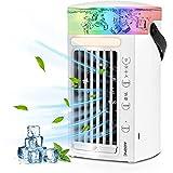 HZIXIXI Climatizador PequeñO, Funcionamiento Silencioso Mini Climatizador Portatil Frio, Cree Su Zona De Enfriamiento Personal Aire Condicionado Portatil - Oficina En Casa Trabajo Al Aire Libre