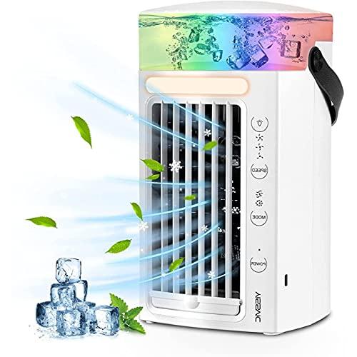 YANRU Condizionatore Senza Tubo, Facile da Usare Climatizzatore Portatile Mini, Protezione Ambientale Ventilatori Refrigeranti, per Casa E Ufficio