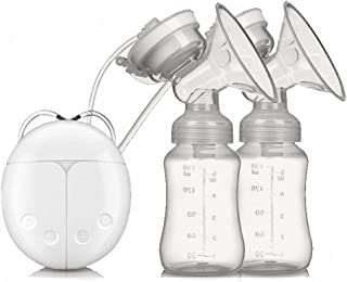 Breast Pump Dual Suction Electric Breastfeeding Pump Portable Nursing Breast Massager 2 Modes 4 Levels Adjustment for Auto...