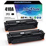 INK E-SALE Compatible Toner Cartridge Replacement for HP 2 Pack Black CF410A 410A for HP Color Laserjet Pro MFP M477fdw M477fdn M477fnw M452dn M452dw M452nw M377dw 410X CF410X Toner Printer