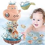 FORMIZON Baby Badespielzeug, 9 STK Wasser Spielzeug Badwanne mit Saugnapf, Wandspielzeug Wasserspray & Spin, Wasserdusche Spielzeug Duschgeschenk für Kleinkinder Mädchen und Junge (9 STK)