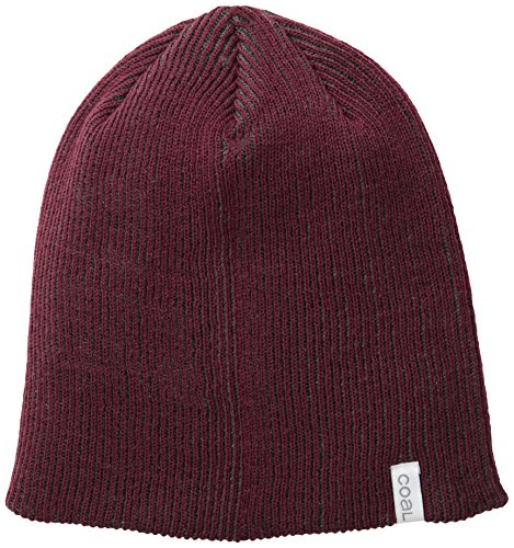 COAL - Bonnet Long Coal Headwear The Binary Bordeaux - Rouge Taille unique Homme / Femme