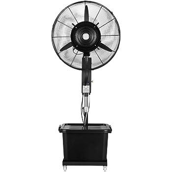 Ventilador nebulizador Exterior terraza Jardin Bar deposito Agua 40 litros/ Ventiladores de pedestal/Ventilador Industrial de pie /3 Velocidades/Negro: Amazon.es: Hogar