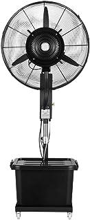 Ventilador nebulizador Exterior terraza Jardin Bar deposito Agua 40 litros/Ventiladores de pedestal/Ventilador Industrial de pie /3 Velocidades/Negro