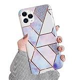 Robinsoni Cover Compatibile con iPhone 11 Pro Cover Marmo Bling Cristallo Strass Bumper Cu...