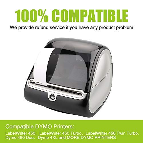 """Biggen Compatible Paper Roll Replacement for DYMO 30256 Large Shipping Postage 2-5/16"""" x 4"""", Labels for Dymo LabelWriter 400 450 Duo Twin Turbo 4XL Printer, 300 Labels Per Roll (8 Rolls) Photo #5"""