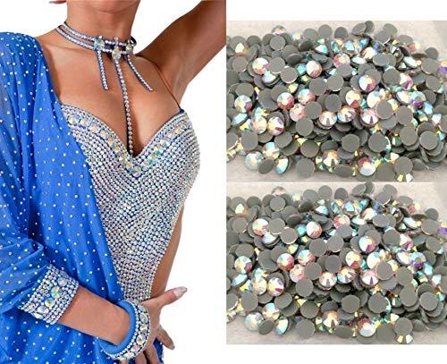 2000 CRISTAL AB Glass Hot Fix//fer sur cristal Diamante strass