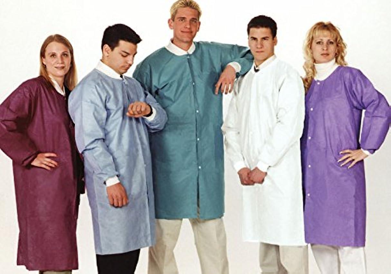 先史時代の成熟ごちそうValuMax NP3660WHM No Pocket, Extra-Safe, Wrinkle-Free, Noble Looking Disposable SMS Knee Length Lab Coats, White, M, Pack of 10 by VALUMAX