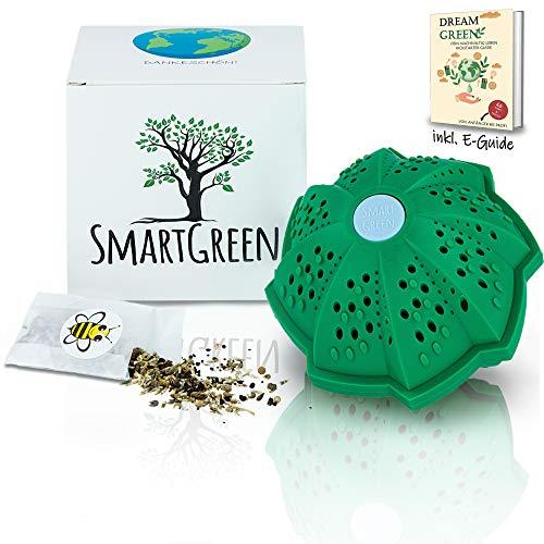 [Smart Green®] Eco friendly Waschkugel für Waschmaschine - Der Waschball für Waschmaschine zum Waschen ohne Waschmittel - Plastikfrei & Perfekt für nachhaltige Geschenke inkl. Blumenwiese u. E-Book