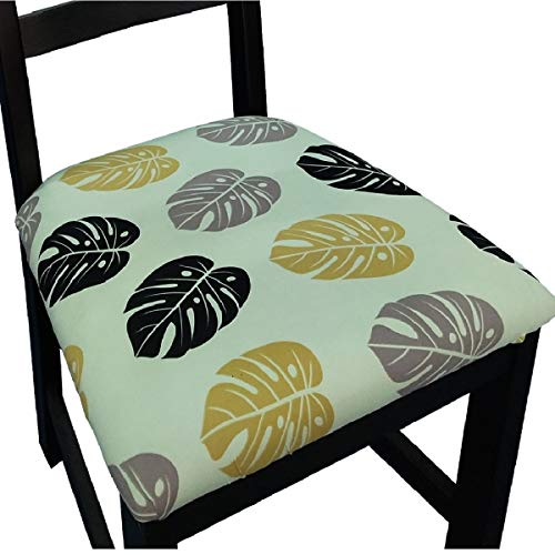 Chair Seat Covers for Dining Room Chair Covers Printed Dining Chair Seat Covers Set of 6,Banana Leaves