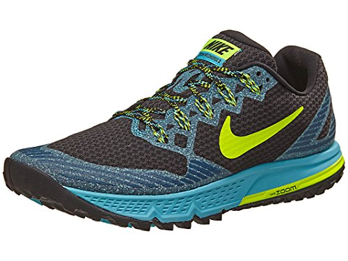 Nike AIR Zoom Wildhorse 3 - Trainers, Men, Black - (Black/Volt-Gamma Blue-Blue Force), 40