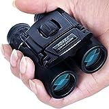 Binoculars Mini 10X22 Compact Small Binoculars for Adults and Kids, Lightweight Pocket Binoculars