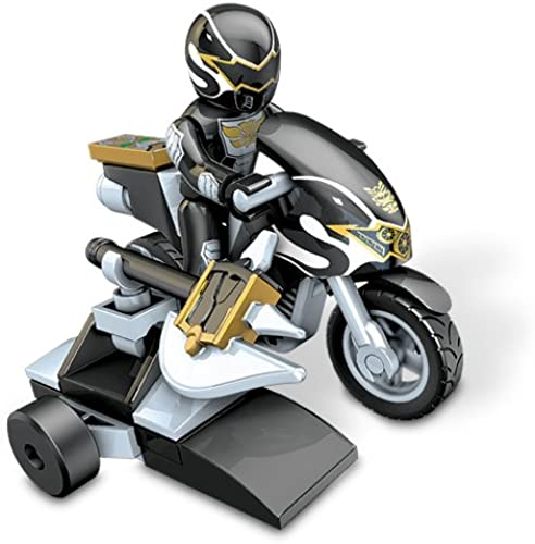 Mega Bloks Power Rangers Megaforce schwarz Ranger Hero Racer