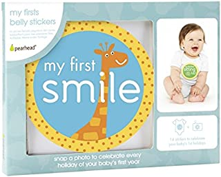 Pearhead 'My Firsts' First Year Monthly Milestone Belly Stickers
