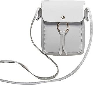 RONSHIN Women Fashion Vertical Square Satchel Round Buckle Decoration Single Handle Bag