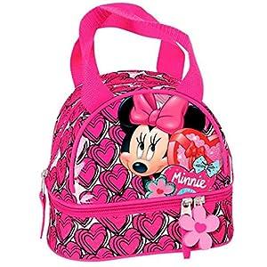 Montichelvo Bolsa Portameriendas Modelo Minnie Mouse Hearts, Compuesto, Multicolor, 25x8x20 cm