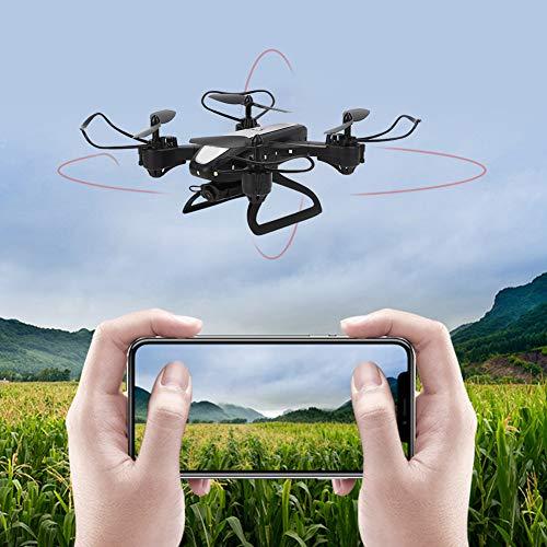 Zwinner RC Drone, RC Quadcopter Helicóptero 2.4GHz 5MP Posicionamiento Plegable con Control Remoto para Tomar fotografías para Juguetes RC al Aire Libre(Black, Pisa Leaning Tower Type)