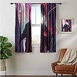 ZhiHdecor Cortina de barra de Spiderman en el verso de araña 2018 arte digital Tu cortinas modernas para sala de estar