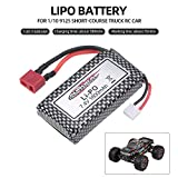 Festnight XINLEHONG Toys Lipo Batteria 7.4V 1600mAh Batteria Auto per 1/10 9125 Camion Corta da Corsa RC