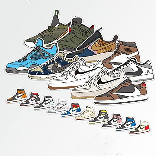 BUCUO Calcomanías para Zapatos de Marca Tide, Pegatinas Personalizadas para chasis de monopatín, Maletas, Pegatinas para Ordenador, Tableta, Mini Pegatinas a Prueba de Agua