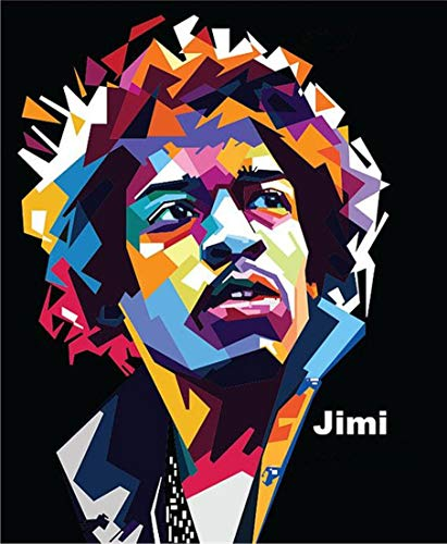 FFXXCC 3D Jimi Hendrix Digital Painting(40x50cm),5D DIY Digital Painting By Number Kit,Adult Children Mosaic Painting Canvas Oil Painting Poster Home Wall Decoration Art Ornaments