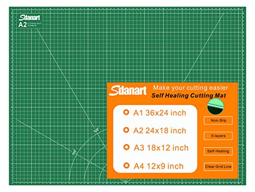 Sdanart Self Healing Cutting Mat: 18'×24' Double Sided 5-Ply Rotary Cutting Board for Sewing,...