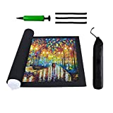 Ofyeah Jigsaw Puzzle Mat Roll Up - Saver Storage 300 500 1000 1500 2000 Pieces Puzzles, Replace Puzzle Glue Board Table, Puzzle Frame Felt Large Mat for Adults Kids Black