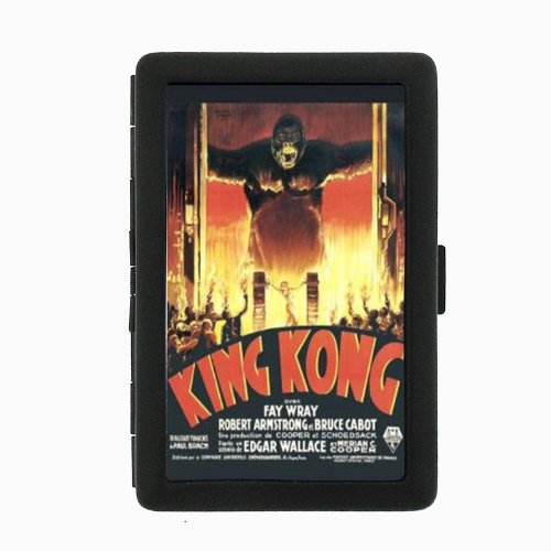 KING KONG 1933 FAY WRAY CLASSIC POSTER Double-Sided Black Color Cigarette Case, ID Holder, and wallet D-564