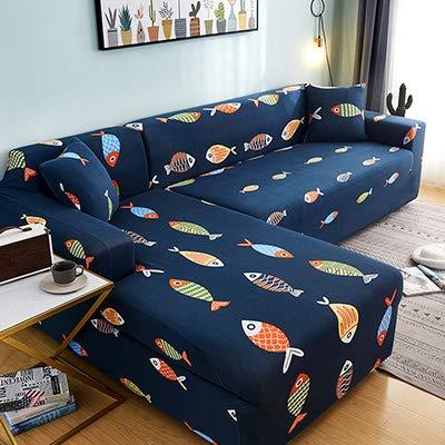 PCSACDF Floral Print Sofa Cover Sofa Handdoek Sofa Cover Elastische behoeften Bestel Sofa Cover Als L-Style Sectional Covers Hoek Sofa Covers 1st 4-Seater 235-300Cm 6